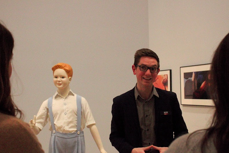 """Mark compares himself to Ray Charles's """"Boy"""" at The Art Institute of Chicago"""