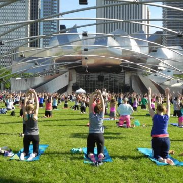 Free Yoga Classes in Chicago at Millennium Park