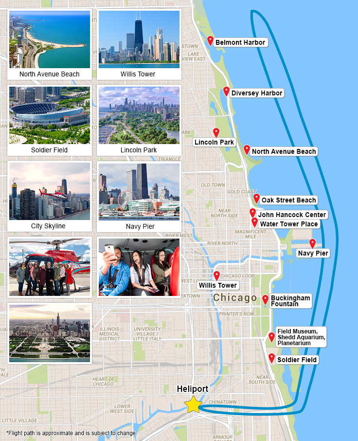 Chicago Helicopter Experience Landmarks