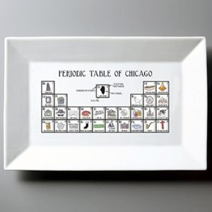 Chicago themed holiday gift ideas Chicago-inspired plate