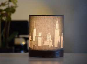 Chicago themed holiday gift ideas drum lamp