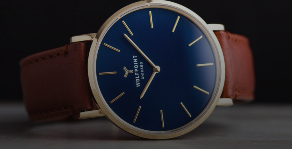 Chicago themed holiday gift ideas Wolfpoint watches